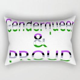 Genderqueer and Proud (white bg) Rectangular Pillow