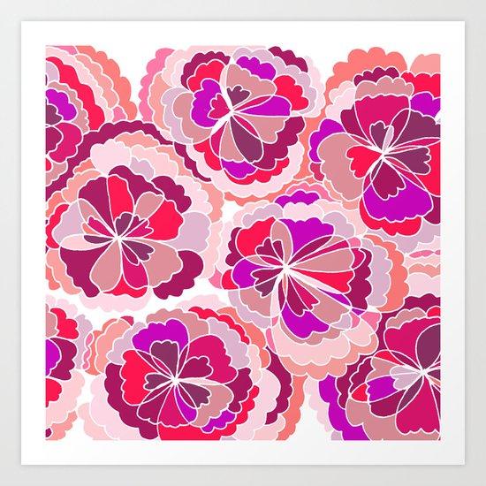 Floral Fuchsia Art Print