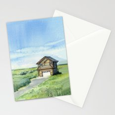 Beach House Landscape Watercolor | Long Beach, WA Stationery Cards