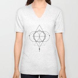Rhombus dots geometry II Unisex V-Neck