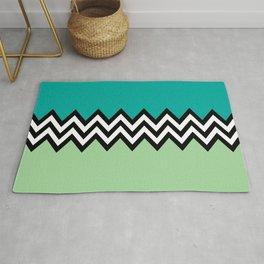Black and white zigzag design Rug