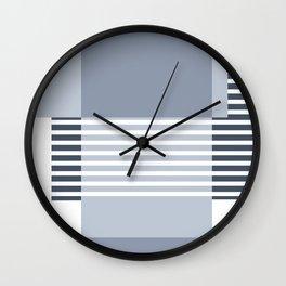 Marfa Abstract Geometric Print in Blue Wall Clock