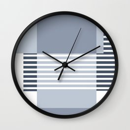 Marfa Abstract Geometric Print in Blue Wall Clock