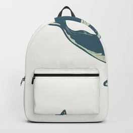 Humpback Whale Blowing Water Scratchboard Backpack
