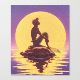 The Little Merman Canvas Print