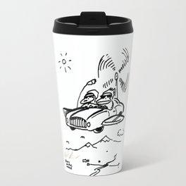 Apes in Flying Car Travel Mug