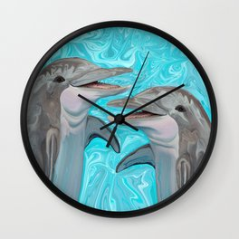 Dolphin Chatter Wall Clock