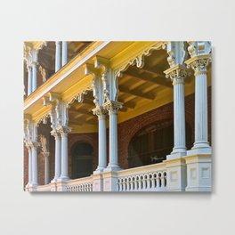 Longwood Home - Detail of Columns Metal Print
