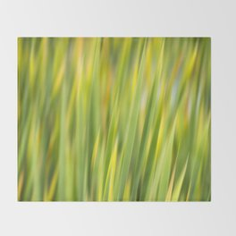 Green Nature Abstract Throw Blanket