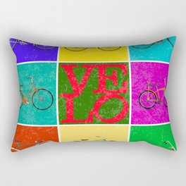 Velo Love – 8 Bikes PoP – June 12th – 200th Birthday of the Bicycle Rectangular Pillow