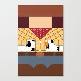 Woody Minimalist Canvas Print
