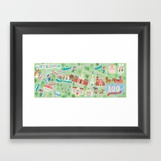 westborough map Framed Art Print