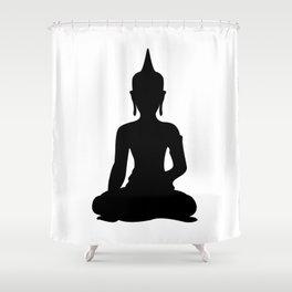 Simple Buddha Shower Curtain