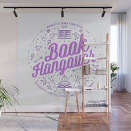 Book Hangover (Purple) Wall Mural