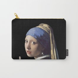 Girl With a Pearl Earring being Badass - Johannes Vermeer Carry-All Pouch