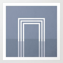 Portals - The Square - Slate Art Print