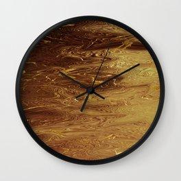 Gold Molten Liquid Fluid Metallic Wall Clock