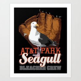 AT&T Seagull - Bleacher Crew I Art Print