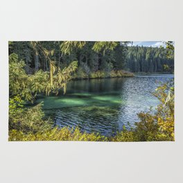 Emerald Tones of Clear Lake Rug