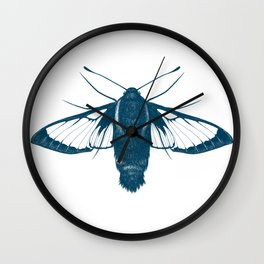 Snowberry Clearwing Moth Wall Clock