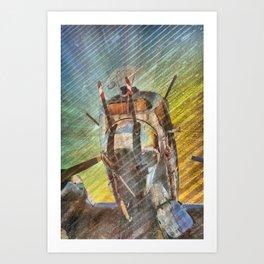 Armed Defender Art Print