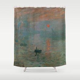 Claude Monet - Impression, Sunrise Shower Curtain