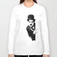 chaplin Long Sleeve T-shirts featuring MR CHAPLIN by John Medbury (LAZY J Studios)