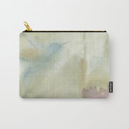 Hummingbird Selah - Vintage Taupe Brown Carry-All Pouch