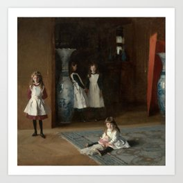 The Daughters of Edward Darley Boit by John Singer Sargent (1882) Art Print