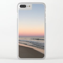 Beach Sunset with Iridescent Sand Clear iPhone Case