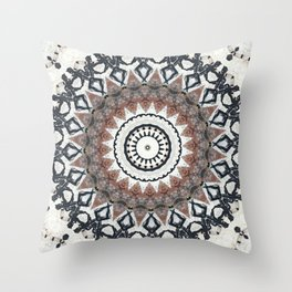 Graffiti Wall Kaleidescope Throw Pillow