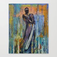 ninja Canvas Prints featuring Ninja by Michael Creese