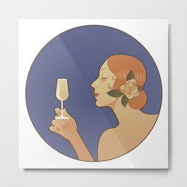 Spanish White Wine Metal Print