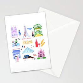 Colorful Paris Stationery Cards