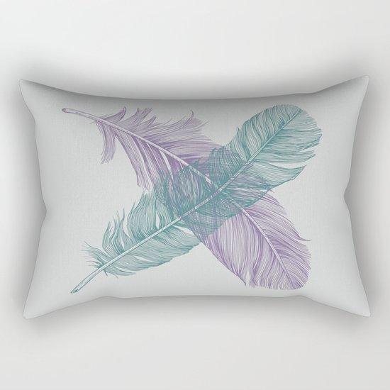 X Feathers Rectangular Pillow