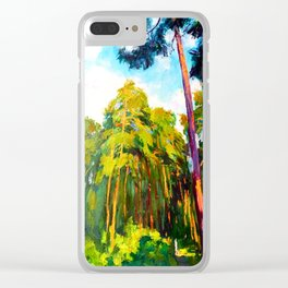 Whisper of pines Clear iPhone Case