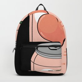 Peach Drink Peach Ginger Ale Aesthetic Backpack