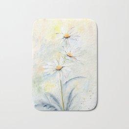 White Daisies Bath Mat