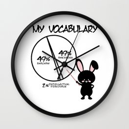 Sarcasm Hare swear vocabulary gift Wall Clock