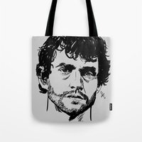 will graham Tote Bags featuring Will Graham Sketch - Hannibal by Soyarts