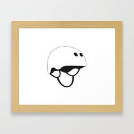 Skateboard Helmet Framed Art Print