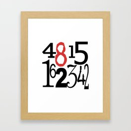 The Numbers in White Framed Art Print