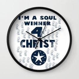 I'm A Soul Winner 4 Christ Wall Clock
