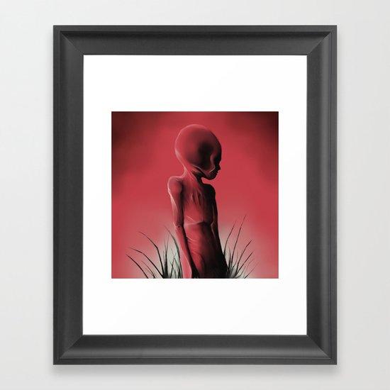 Dead Body Framed Art Print