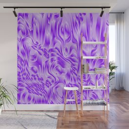 Pastel smudges stains of delicate colors with violet. Wall Mural