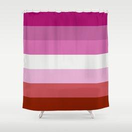 Lesbian Flag Shower Curtain