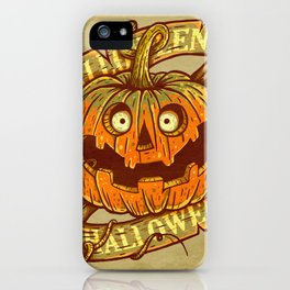 Halloween dark khaki iPhone Case