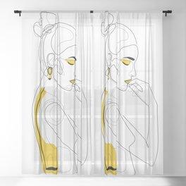 Lemon Girl Sheer Curtain