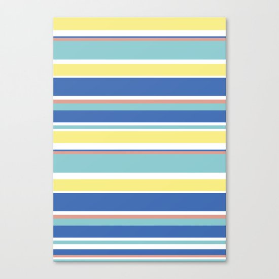 The Summer Stripes Canvas Print
