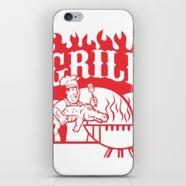BBQ Chef Carry Gator Grill Retro iPhone Skin